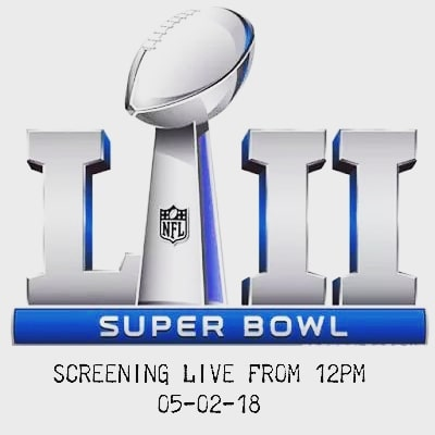 HI FOLKS ,  YES WE ARE SCREENING SUPER BOWL LIVE  COME DOWN TO GRAB A FEED AND FEW DRINKS , $15 LUNCH ON GAME TIME 😀