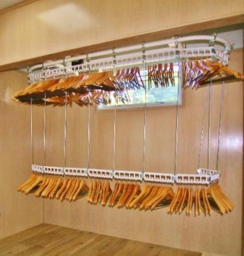 Luxe Wardrobe Automation Ceiling Mounted Double Tier Conveyor