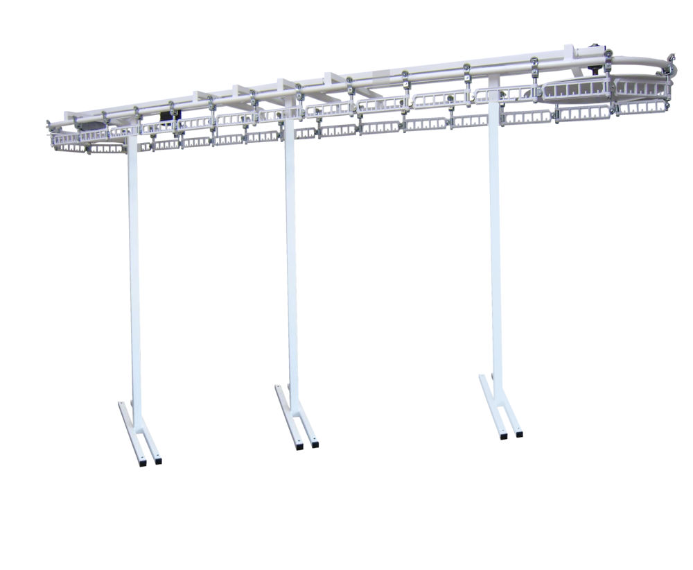 Luxe Wardrobe Automation Single Tier Conveyors - 8' + Floor Supports Under Conveyor