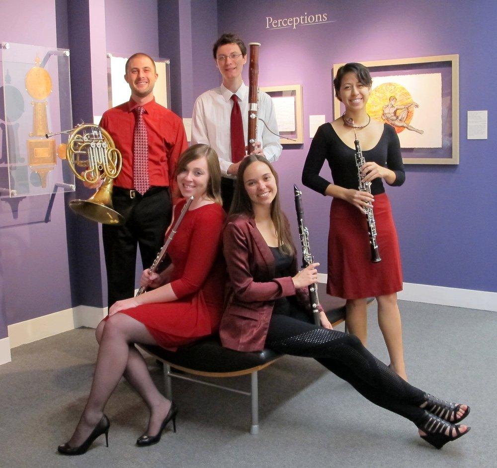 Michael Mesner, horn Kate Nichols, flute Matthew Kowalczyk, bassoon Natalie Groom, clarinet Rachel Kamradt, oboe
