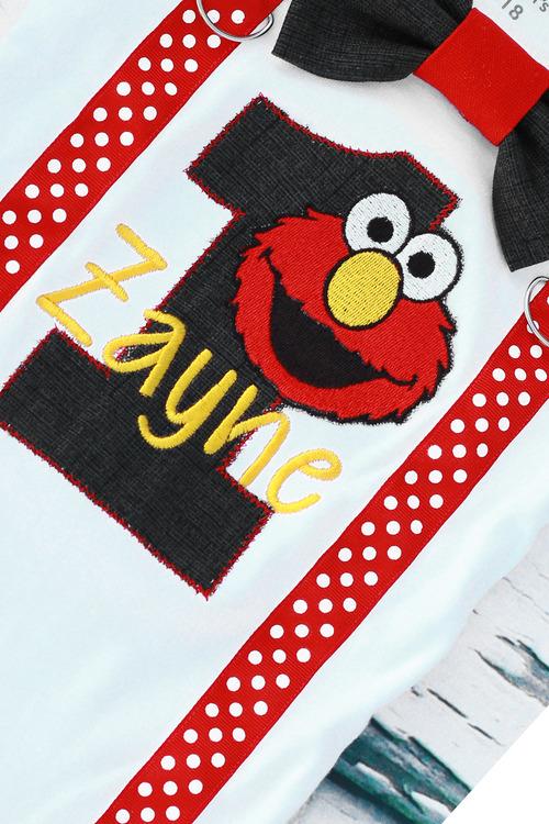Baby Boy Elmo Themed First Birthday