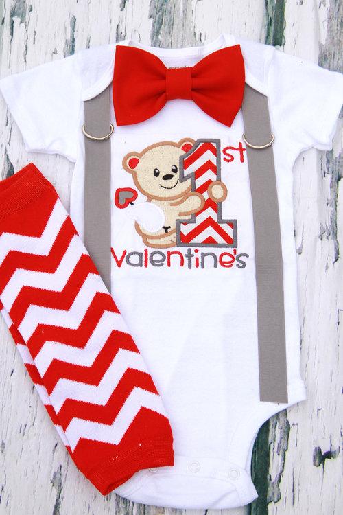 Baby Boy 1st Valentine S Day Onesie Love And Lollipops Baby Boutique