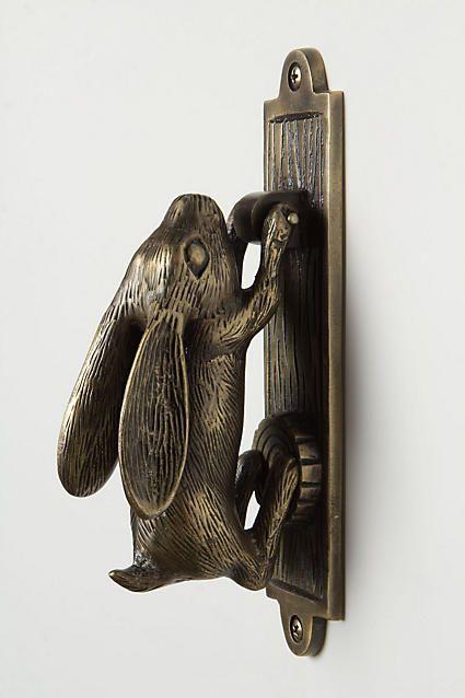 Rabbit Door Knocker $40 @  Anthropologie