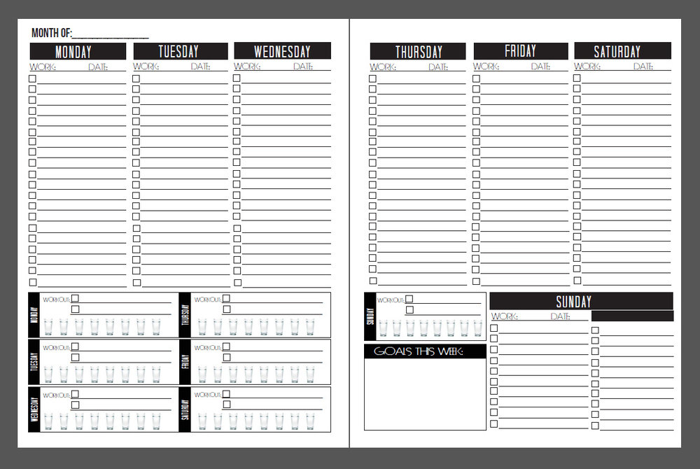Side by Side view of checklist planner