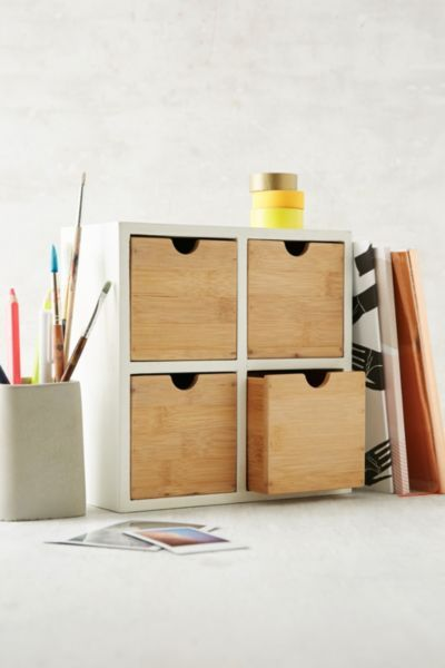 Bamboo Desk Organizer @  Urban Outfitters  $39
