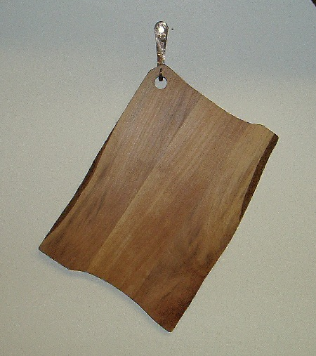 "Cheese Board  Sycamore with oil finish.  12 1/2"" x 18""  Susan Hankin 2008"