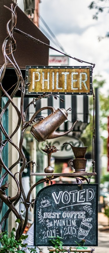 Philter sign. In collaboration with fine artist and blacksmithstress Katee Boyle.