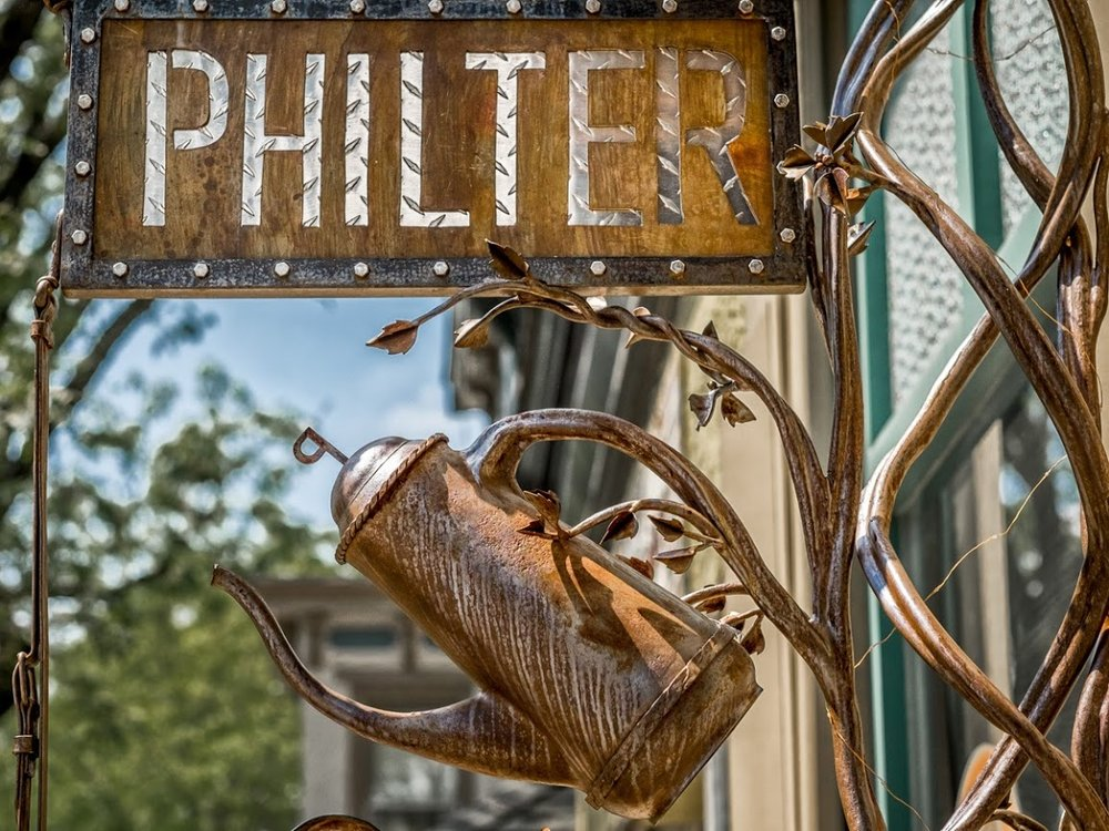 Detail of Philter sign