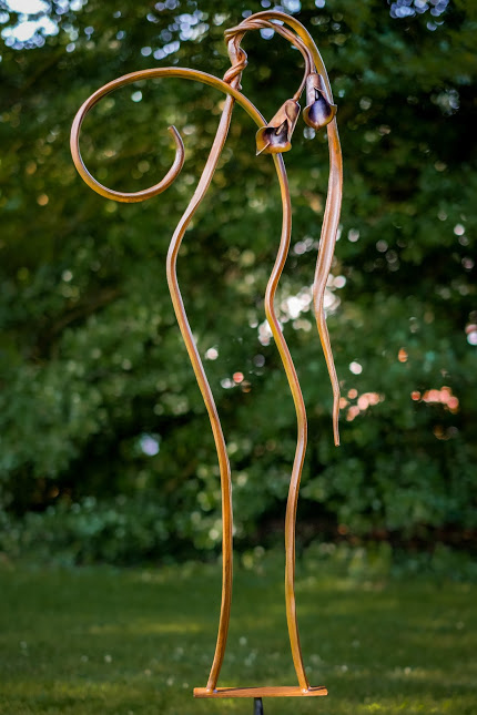 """Weeping Lilly"" Forged steel, 6 feet tall"