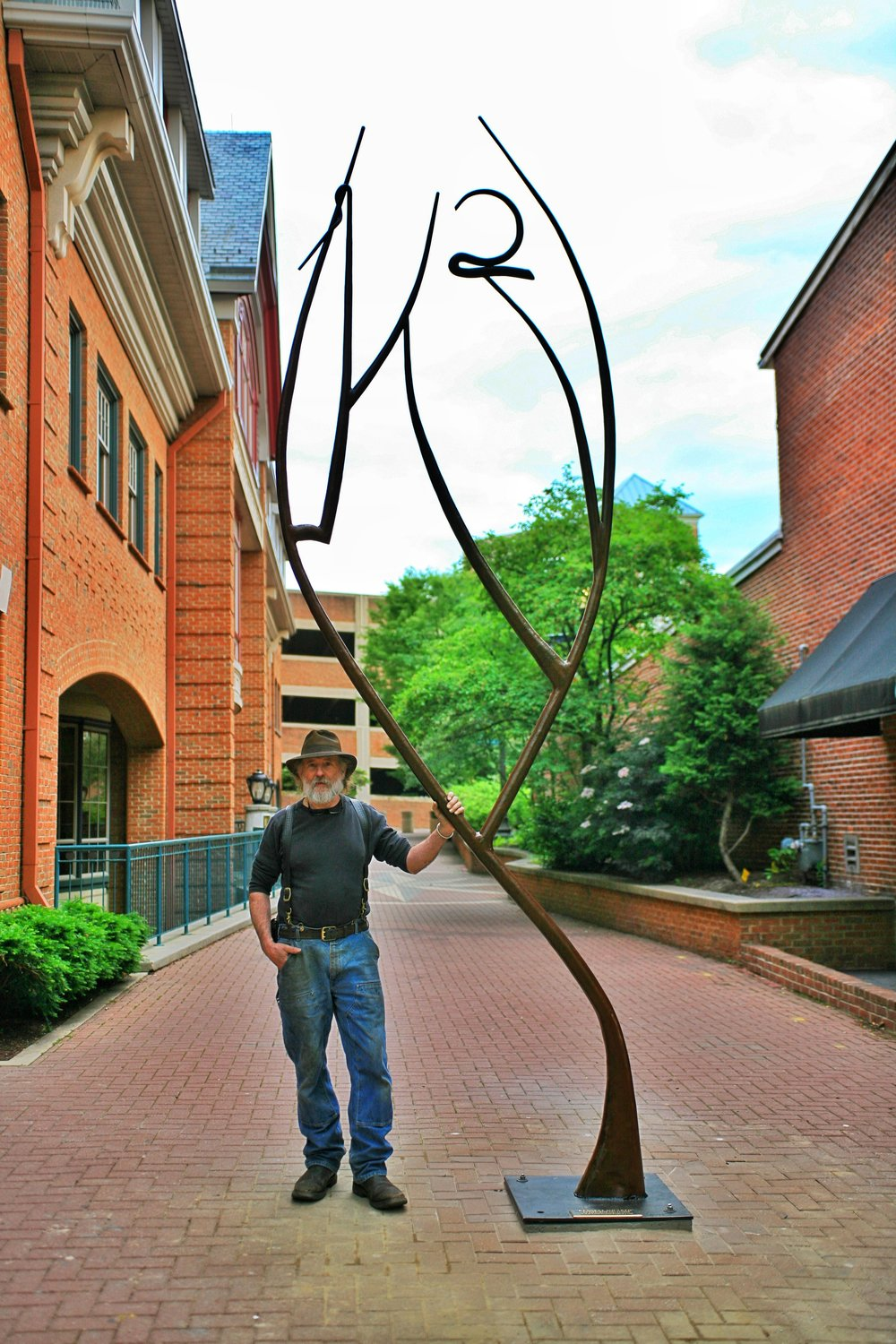 """Kennett Squared"" Forged Steel 16' x 4'  Photo courtisy of Adrian Gibbs"