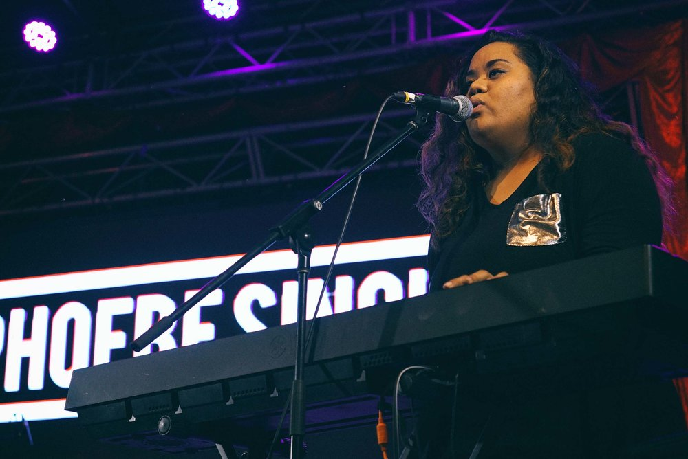 Jay-lee Senituli performing with Phoebe Sinclair at NightQuarter 2018