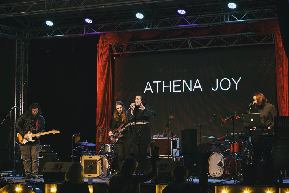 Athena Joy onstage at NightQuarter 2018