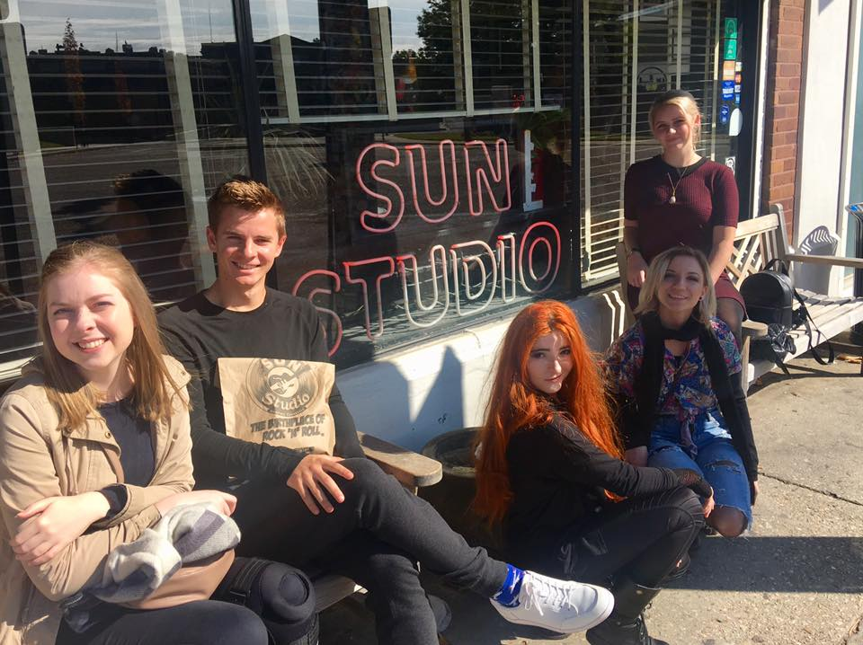 Outside the famous Sun Studio in Nashville
