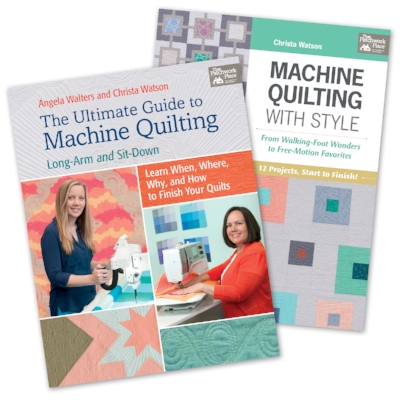Christa's books-- I have Machine Quilting with Style, and I LOVE it!