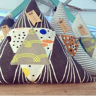 Triangle pillows made of triangles? Yes, please!