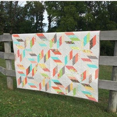 "Corey's quilt pattern, ""Backroads"""