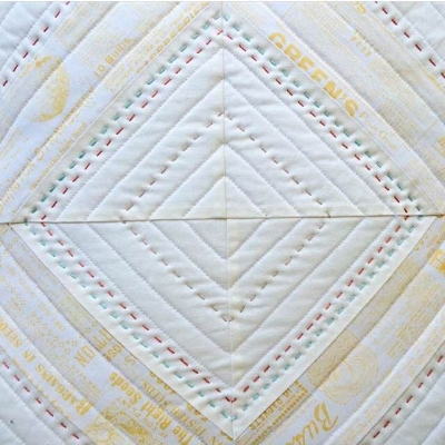 An extra touch-- a little hand quilting