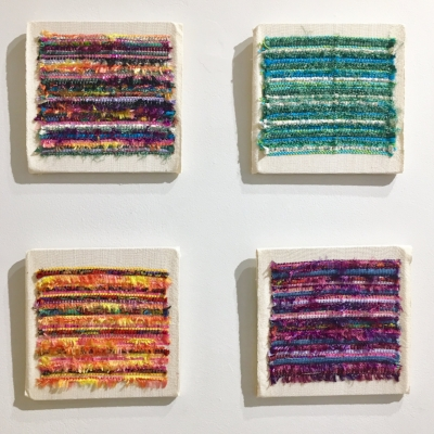 Fuzzy Logic by Leigh Skowronski (Fiber Art, 2014), displayed as part of the Juried Members' Exhibition