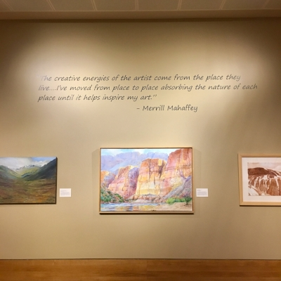 Part of the Merrill Mahaffey Exhibit.