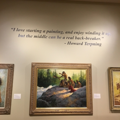 Temporary exhibit of the work of Howard Terpning