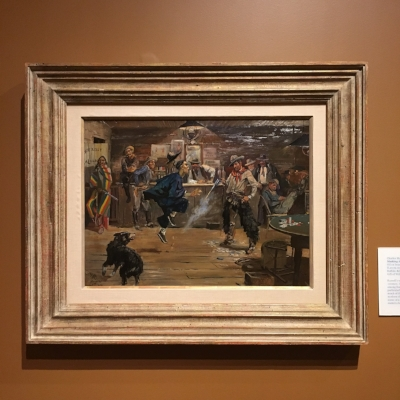 """Making the Chinaman Dance"" by Charles Marion Russell. Oil on board, 1898. (I fell in love with the work of Charlie Russell when we visited the Montana Capitol in Helena 7 or 8 years ago)."