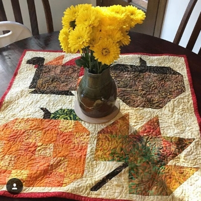 Autumn / Thanksgiving Table-topper that I made for my Mama when I first bought the book