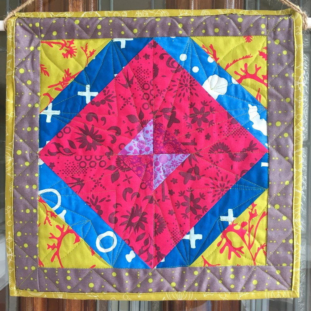 New spring quilt for the Knight house!