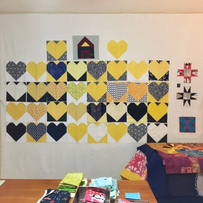 Hearts are taking over my design wall. YAY!