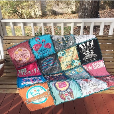Rag-style tshirt quilts like this one were the start of my quilting journey