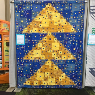"""Alberta Sky Quilt"" by the Calgary Modern Quilt Guild. I saw this quilt first on Instagram when it was completed. It captured my awe then and now!"