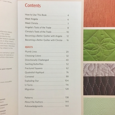 Table of Contents of  The Ultimate Guide to Machine Quilting
