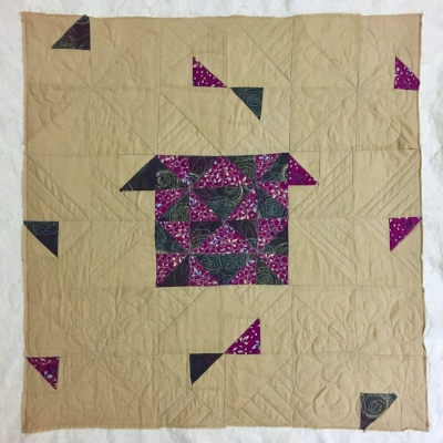My First Quilt: Pieced 2015, just now being quilted
