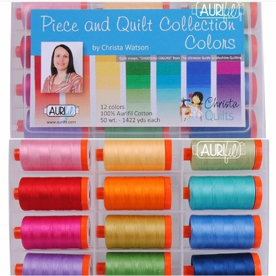 I've been quilting so much, that I have all the heart eyes for this bright collection of threads that Christa curated.