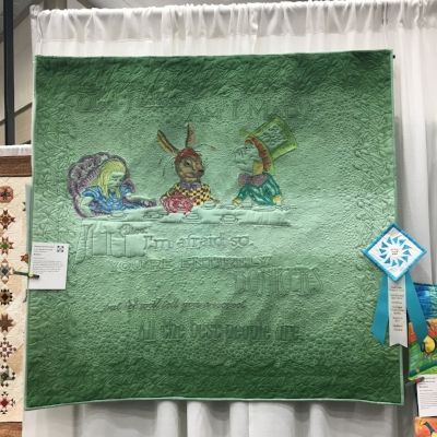 """Bonkers"" by Lynn Rinehart. This whole cloth quilt is all thread painting. I'm kind of bonkers for it!"