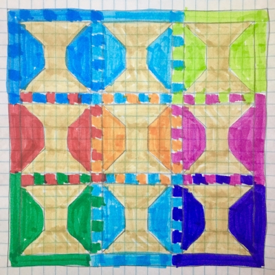 HollyAnne Knight Spools Quilt Sketch
