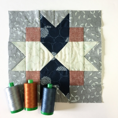 North Start Quilt Block by HollyAnne Knight of String and Story