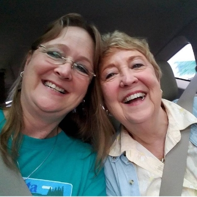 Bonnie Hunter (left) and her mama