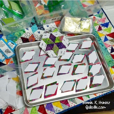 Prepping EPP kits for her upcoming trip to China