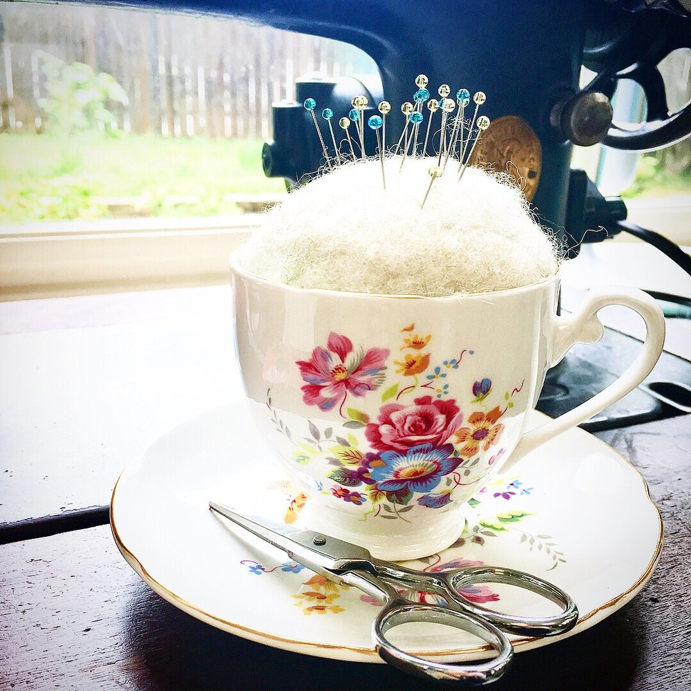 Tea Cup Pin Cushion with HollyAnne Knight of String & Story