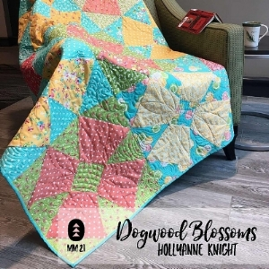 Dogwood Blossoms Quilt Pattern by HollyAnne Knight of String & Story