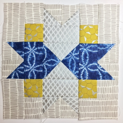 North Star Quilt Block by HollyAnne Knight of String & Story