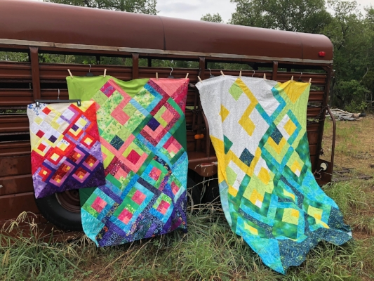 Lanterns of Hope Quilt Pattern by HollyAnne Knight of String & Story (Piecing and photo by Lydia Morris)