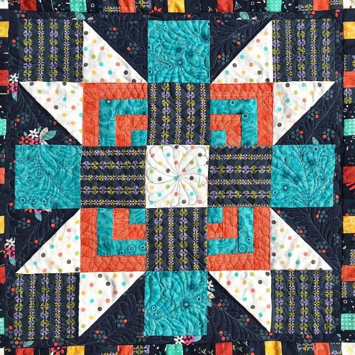Quilted Medallion Star by HollyAnne Knight of String & Story