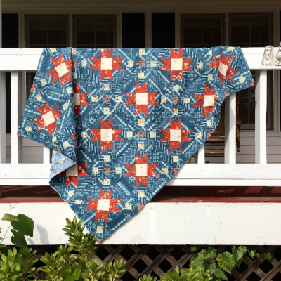 Sirius Quilt by HollyAnne Knight of String & Story