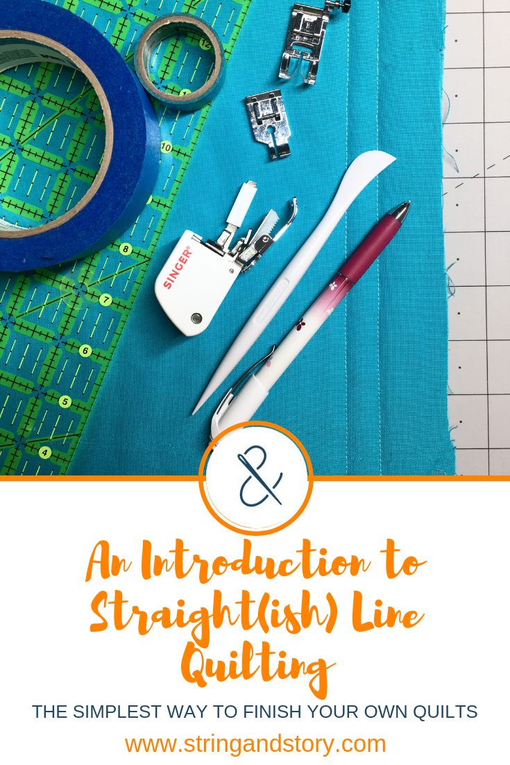 An Introduction to Straight(ish) Line Quilting with HollyAnne Knight of String & Story -- Click to learn the simplest way to finish your own quilts!