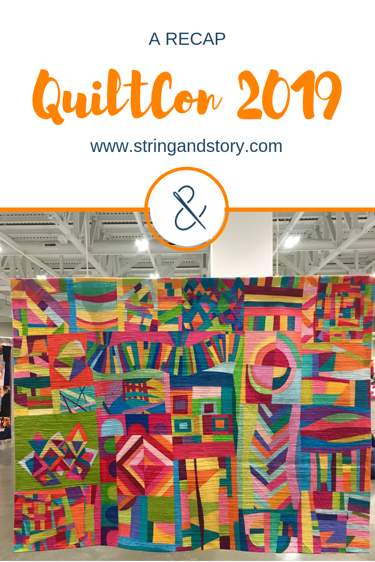 QuiltCon 2019 Recap with HollyAnne Knight of String & Story (Showing the Best in Show Quilt- Smile by Leanne Chahley)