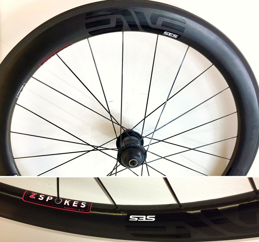 Power Tap with ENVE 56mm G2 and DT Aerolites