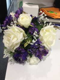 Purple artificial Bouquet