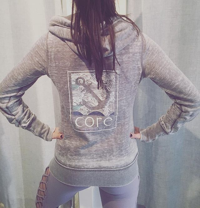 Our 2017 @corenantucket sweatshirts have arrived and we are OBSESSED! 😍❤Lots of colors and styles to choose from!! #thesweatlife #sweatshirts #activeliving #love