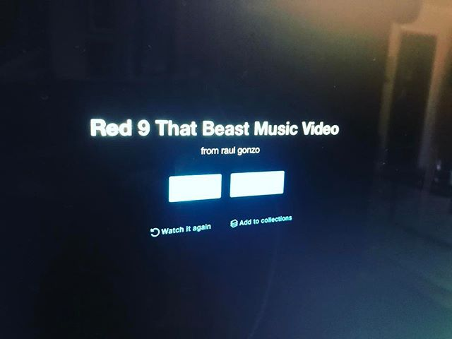 Watching the #firstcut over and over again. #comingsoon #red9 #thatbeast #musicvideo